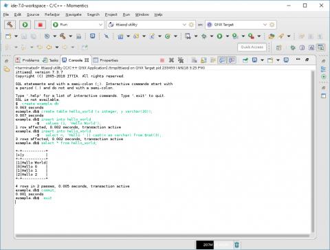 ITTIA DB SQL Getting Started Guide for QNX 7 | ITTIA